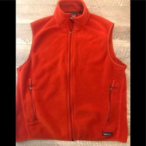 Patagonia Synchilla Burnt Orange Vest Size Large